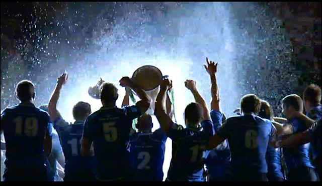 Leinster Rugby team celebrating their 2011 Heineken Cup victory