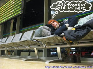 The Voyages of Vivienne: sleeping in airports