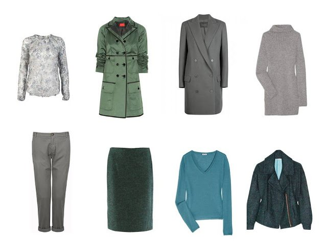 eight additional pieces for a capsule travel wardrobe based on the colors of abalone shells