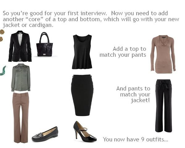 Building a job interview / work wardrobe from scratch