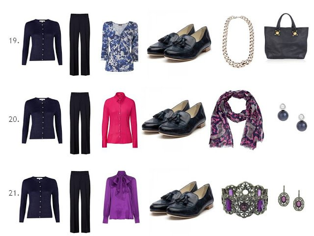 Wardrobe Navy Gray Brights And Lots Of Outfits The