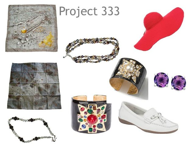 Accessories worn in 1 month of Project 333