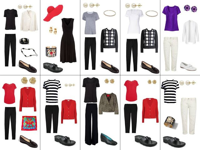 10 outfits worn from Project 333 in June 2012