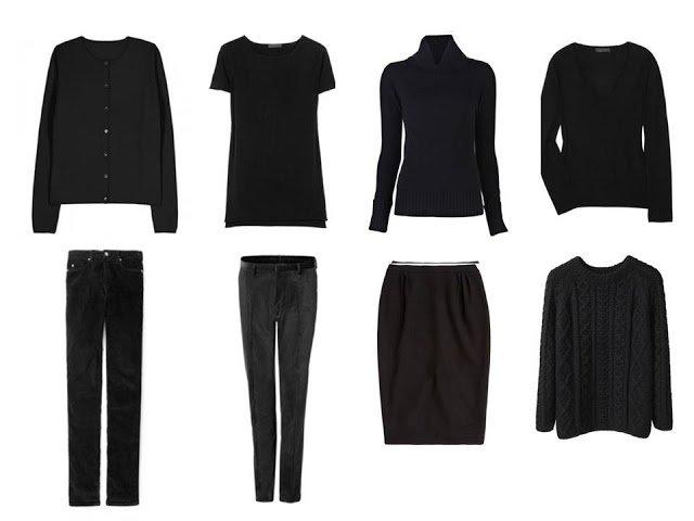Not so crazy eights eight piece black core wardrobe