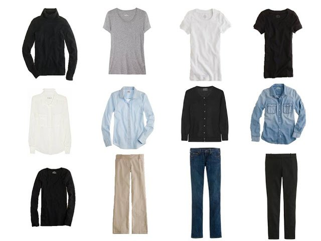 12 piece basic neutral capsule wardrobe,Minimalist Wardrobe, common wardrobe, basic wardrobe, 12-piece wardrobe