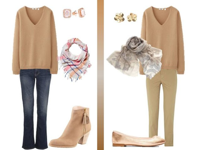 How To Wear A Camel V Neck Sweater The Vivienne Files