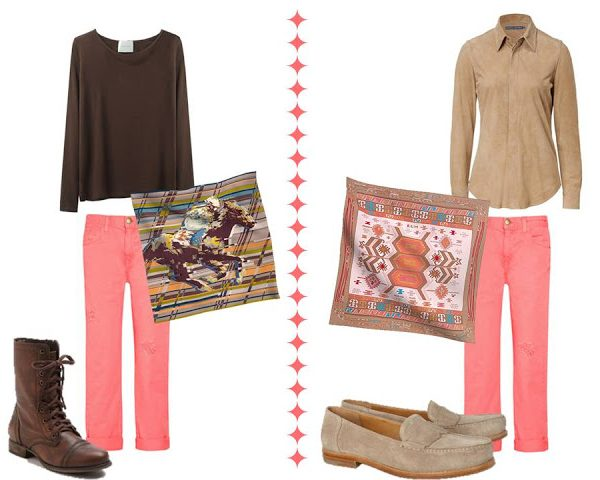 How to Wear Pink Jeans…