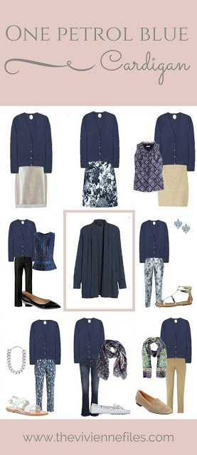 My 4th Most Popular Post - How to Wear a Petrol (or Slate) Blue Cardigan