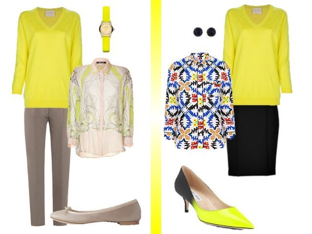 Now To Wear A Neon Yellow V Neck Sweater The Vivienne Files