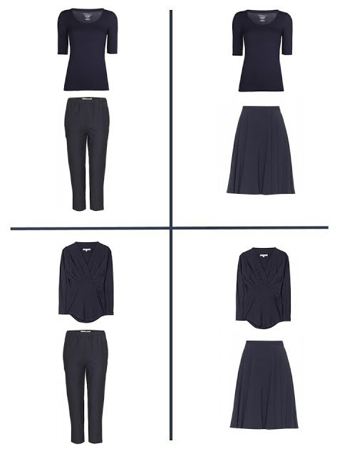 4 outfits that you get from a navy four by four
