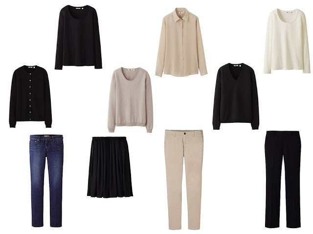 10-piece Uniqlo core neutral capsule travel wardrobe