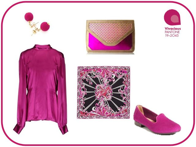 Pantone Vivacious - blouse and accessories