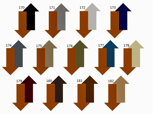 13 combinations of a secondary neutral color with rust