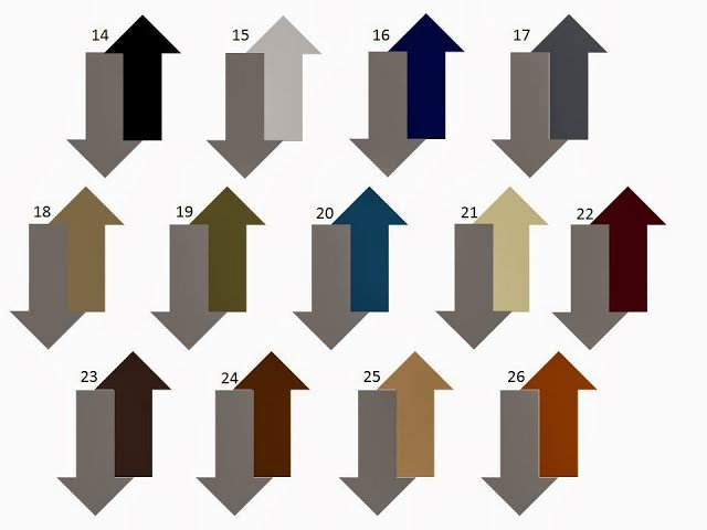 13 combinations of a secondary neutral with dark grey