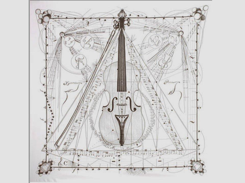 Musique des Spheres Hermes scarf