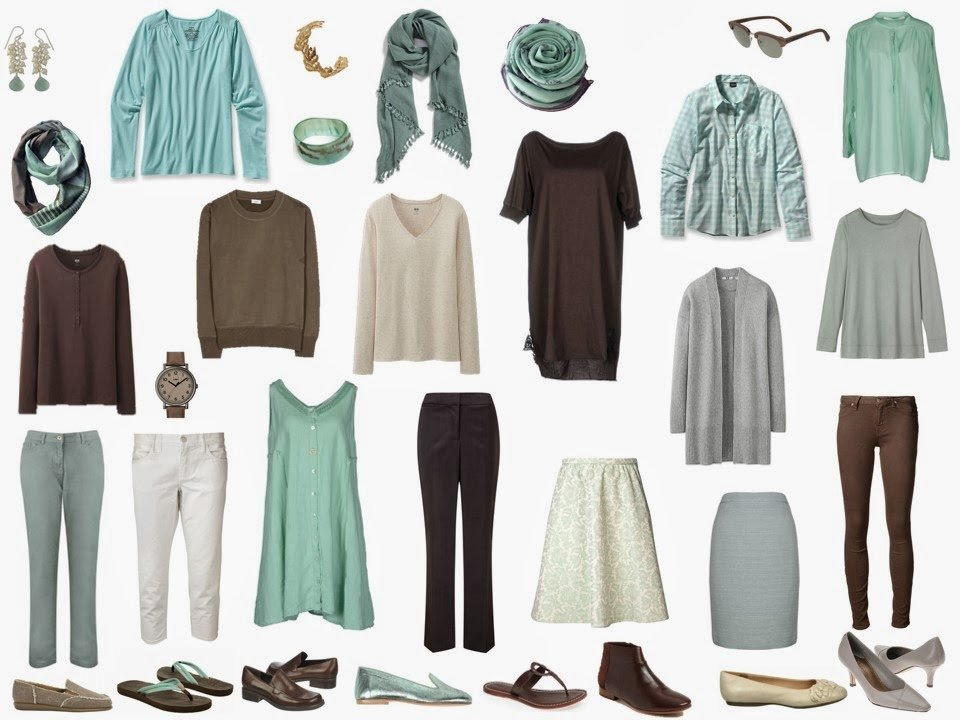 travel capsule wardrobe based on Lake Lucerne by Albert Bierstadt