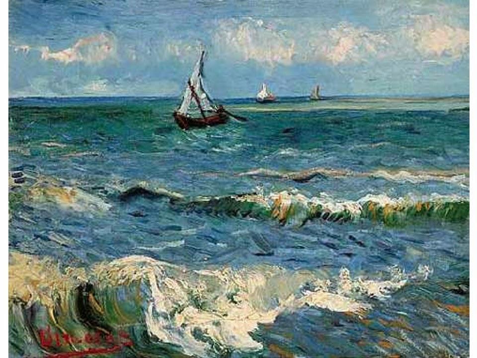 The Sea at Saintes Maries de la Mer by Vincent Van Gogh