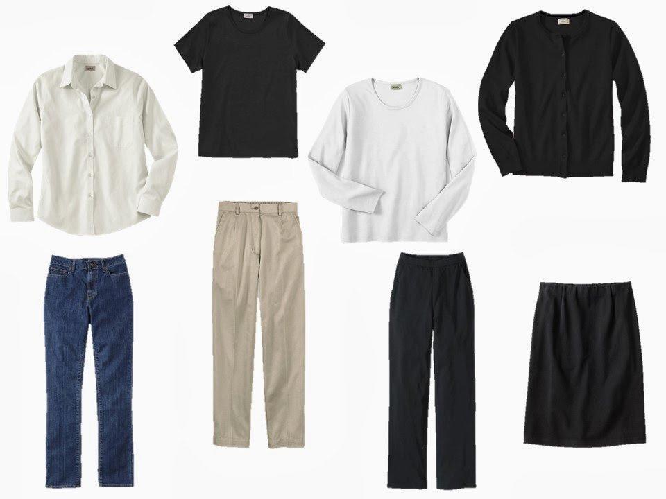 eight piece neutral wardrobe