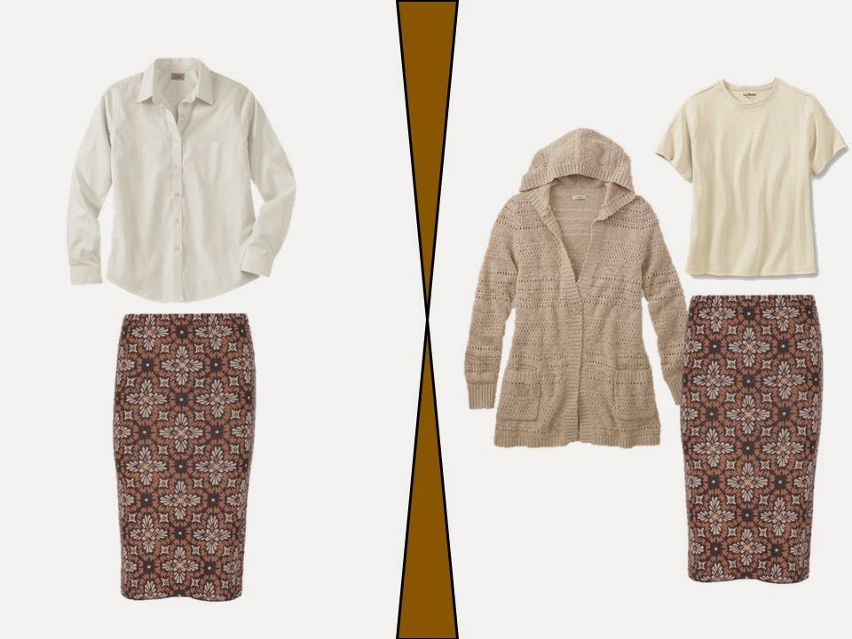 two outfits based on a Chalet room