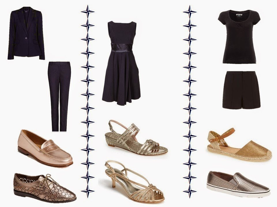 e686f128ba rose gold penny loafers – G.H. Bass, dark silver oxfords – DV by Dolce  Vita, dress – The Pretty Dress Company, silver sandals – Stuart Weitzman,  gold ...