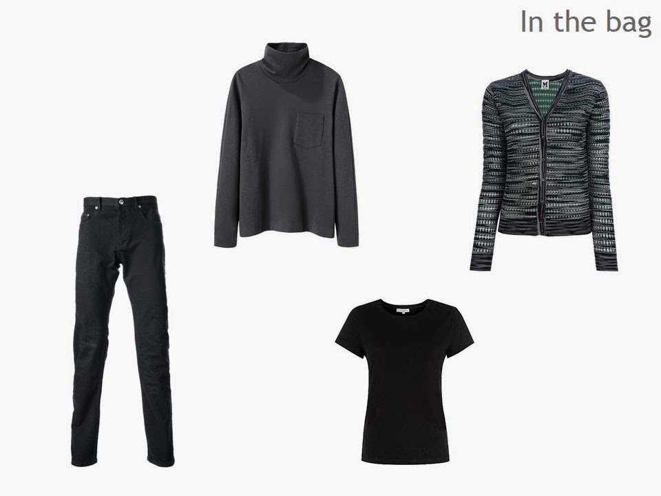 four black garments for travel