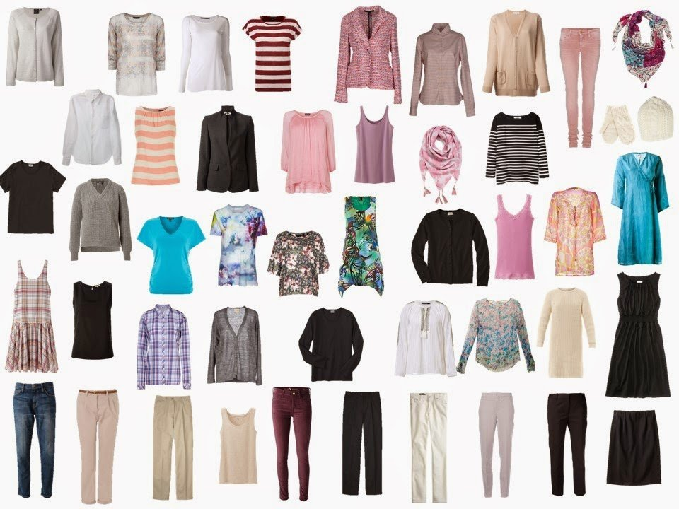 the total capsule wardrobe from Ma To-Do List: Dressing