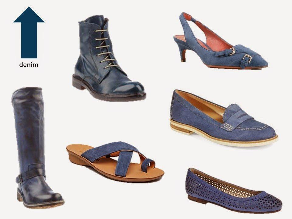 six classic denim blue shoe styles