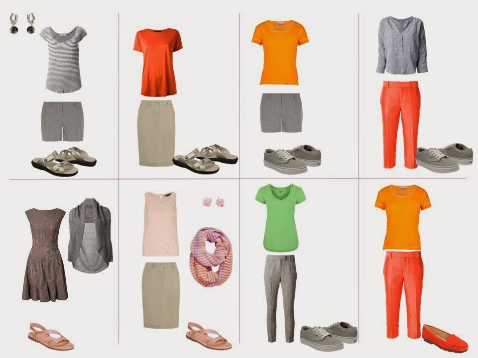 eight outfits taken from colors in The Libyan Sibyl by Michelangelo