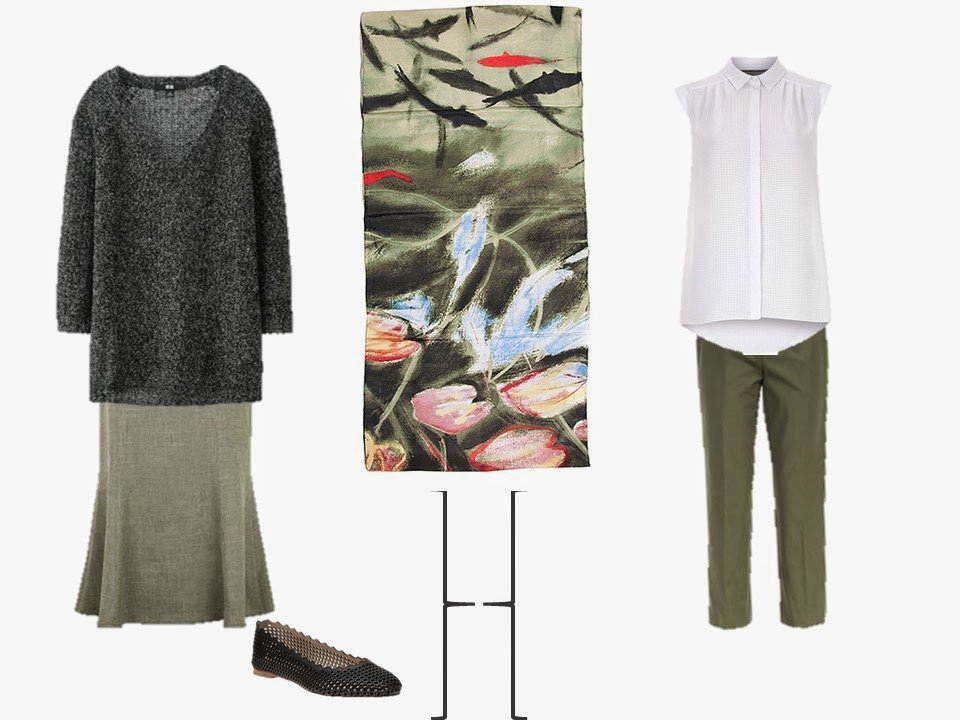 outfits using olive green