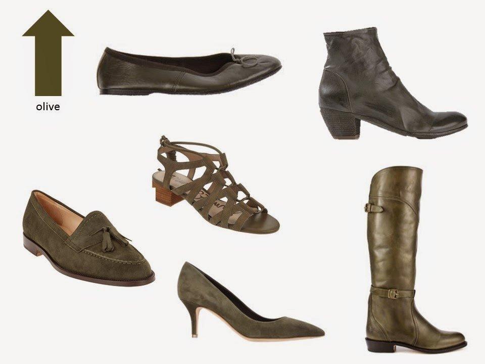 six classic olive green shoe styles