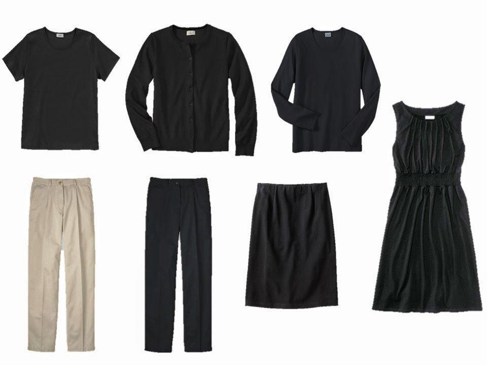 a core seven-piece neutral wardrobe
