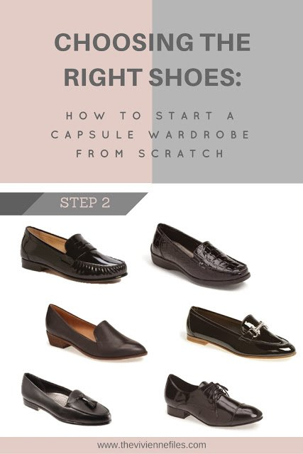 How to build a capsule wardrobe from scratch - step 2 - choose the right shoes