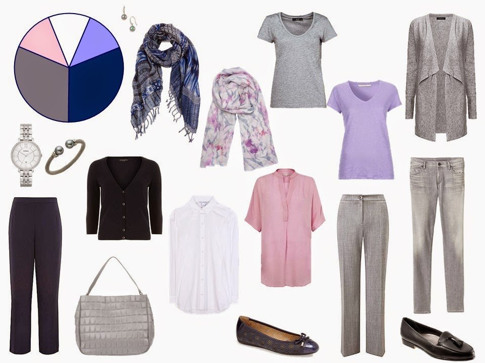 navy and grey travel capsule wardrobe