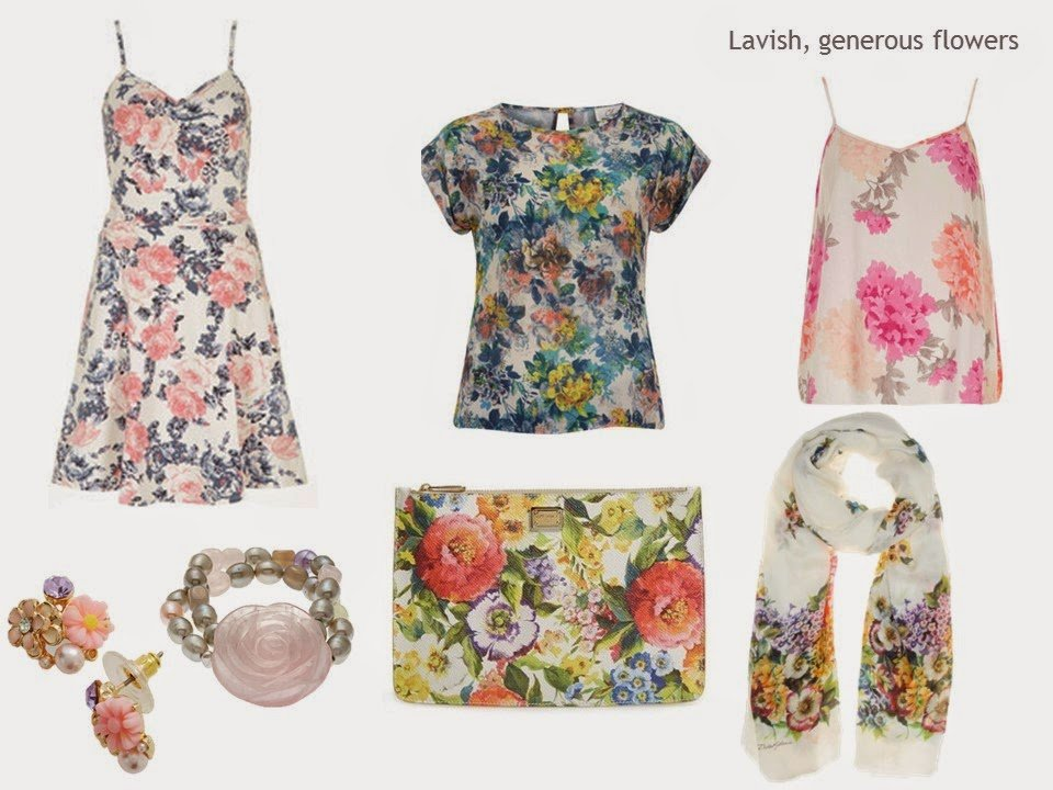 traditional floral prints in garments and accessories