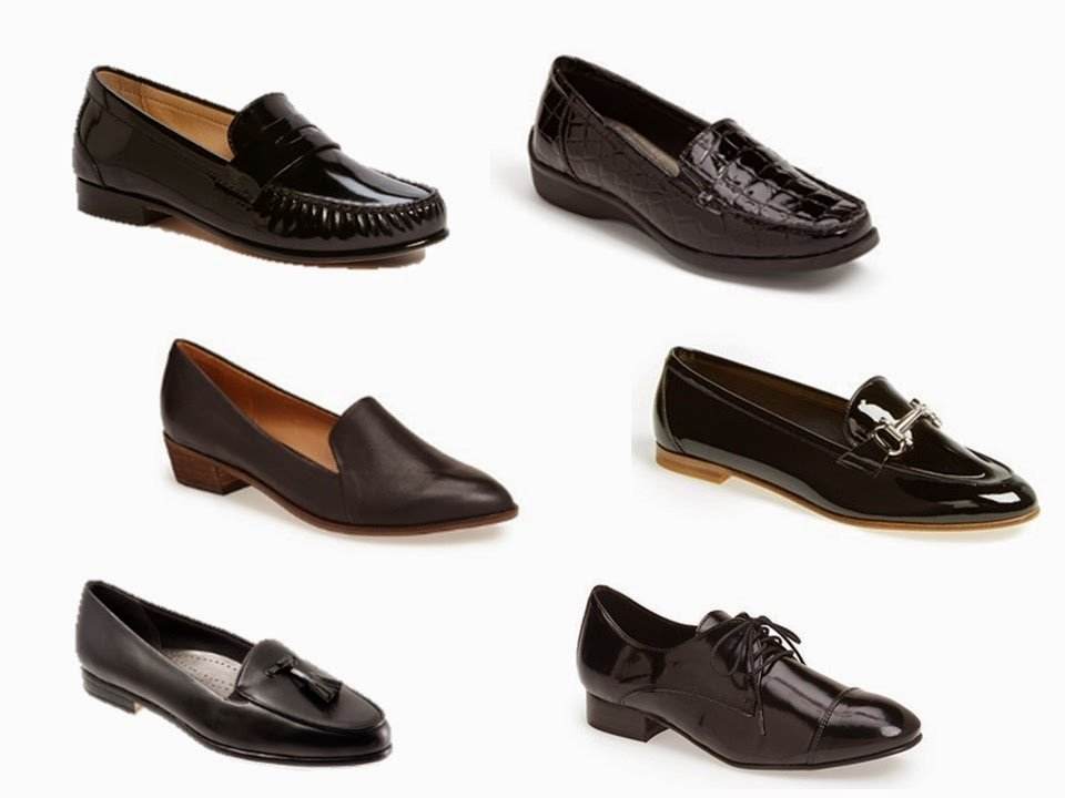 simple black women's shoes that can be worn with dress pants