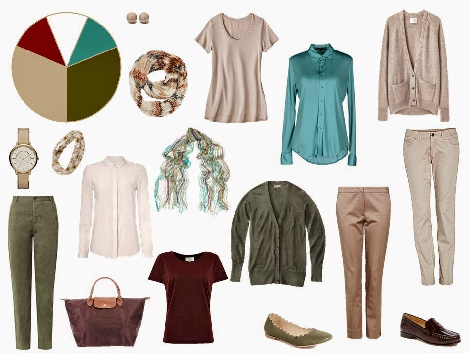 khaki and olive travel capsule wardrobe