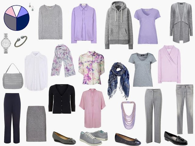 The Grey and Navy Starting From Scratch Wardrobe, after step 10