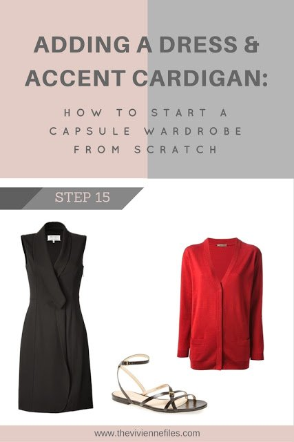 How to build a capsule wardrobe - step 15 - a dress and a cardigan