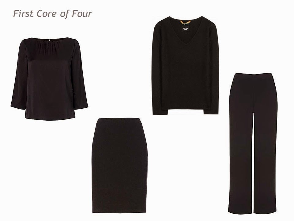 wardrobe planning Four by Four black clothing