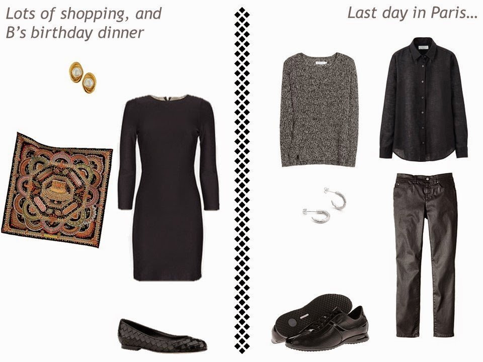 2 outfits for a Paris/Amsterdam vacation