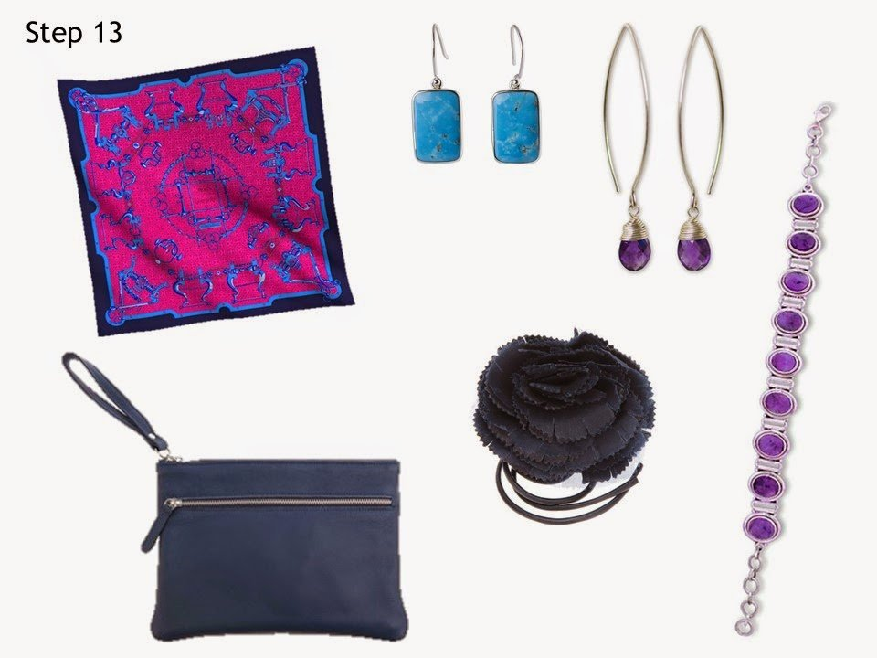 Step 13 accessories for Starting From Scratch Wardrobe Summer navy and White