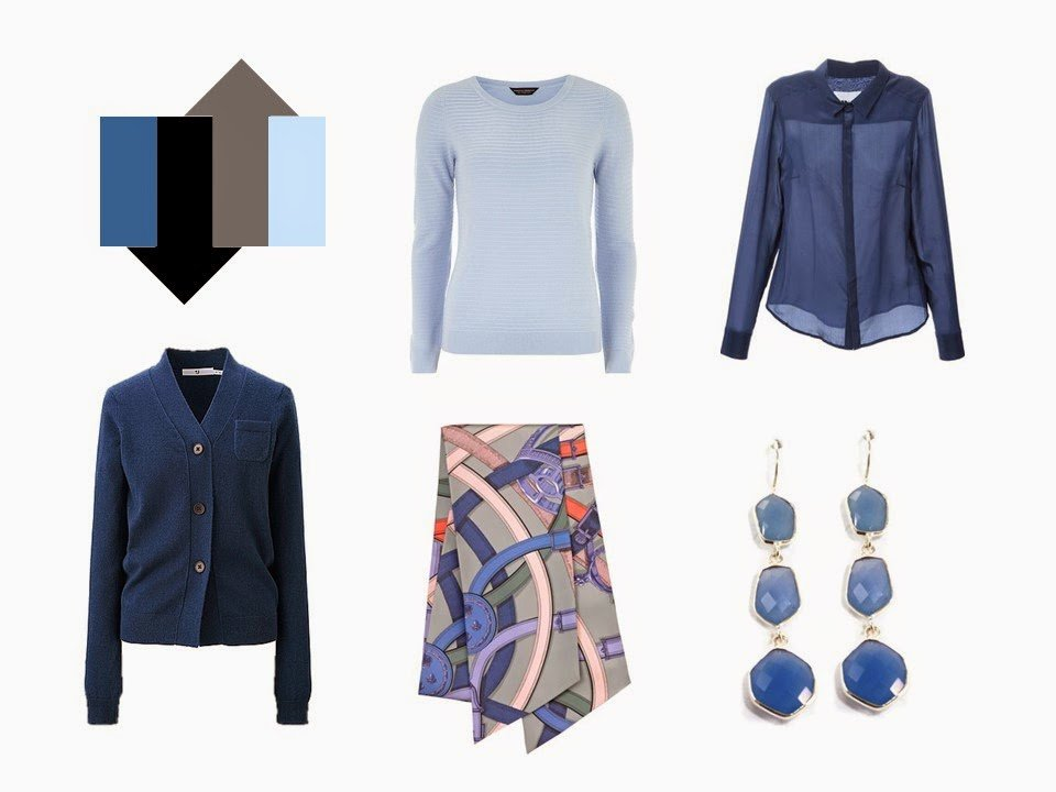 The French 5-Piece Wardrobe + A Common Capsule Wardrobe: Shades of blue, with Black and Grey
