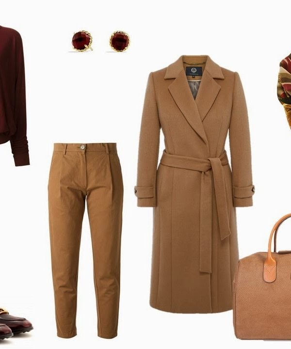 Four Pack Travel Capsule Wardrobe: Camel and Burgundy