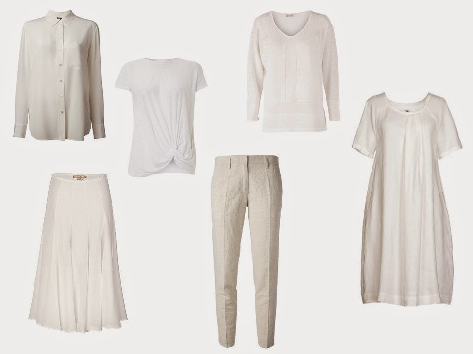 "a six-piece ""Monday Morning Wardrobe"" in white"