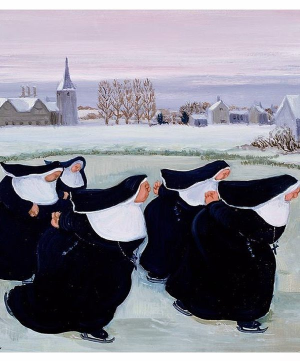 Building a Capsule Wardrobe by Starting with Art: Winter at the Convent by Margaret Loxton