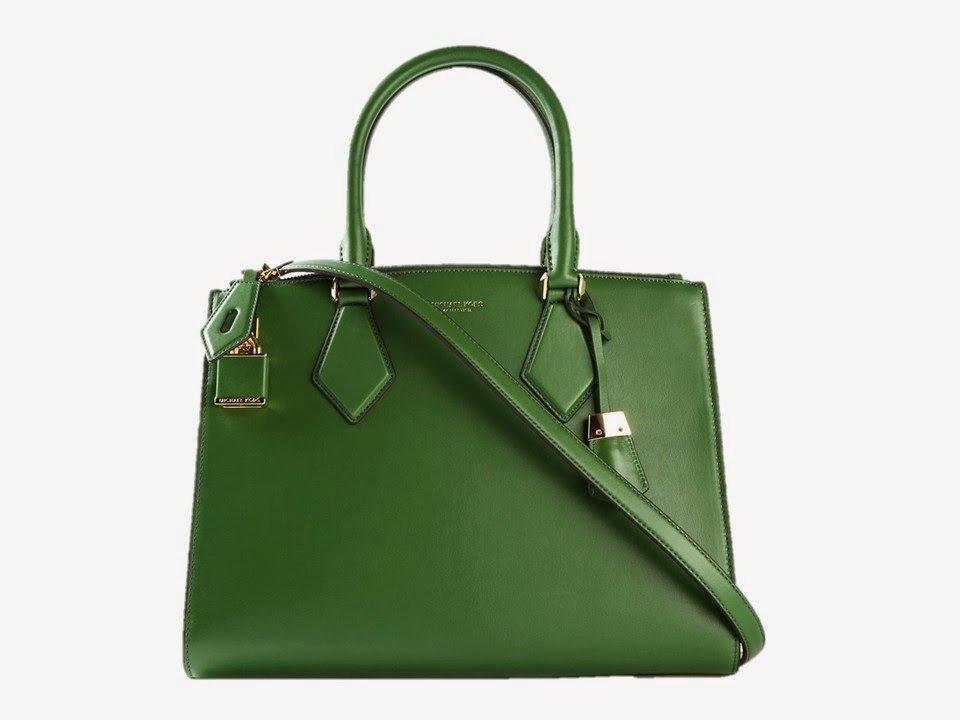 Green handbag from Michael Kors