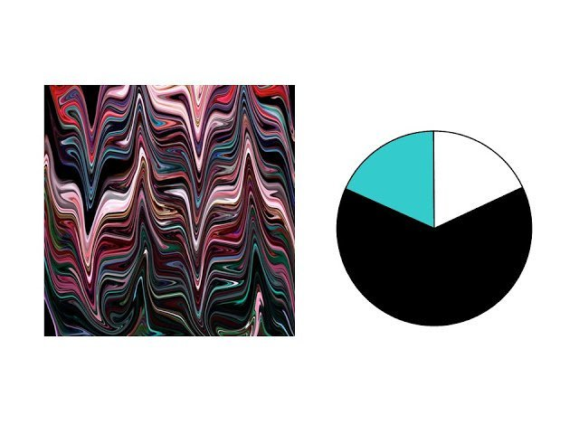 black, pink, red, teal and aqua marble patterned silk scarf with black white and aqua color scheme