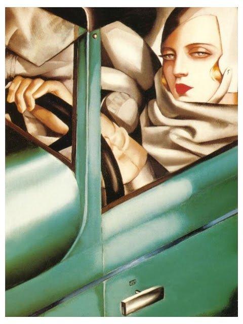 Building a Capsule Wardrobe by Starting with Art: Self-Portrait in a Green Bugatti by Tamara de Lempicka