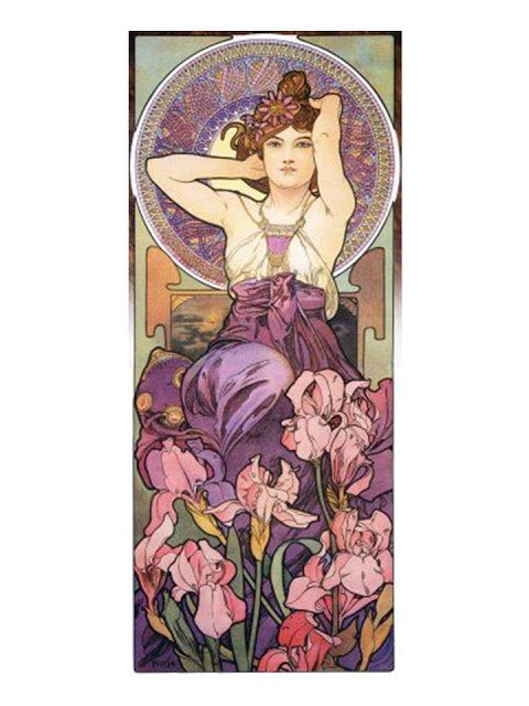 Building a Capsule Wardrobe by Starting with Art: Amethyst by Alfons Mucha
