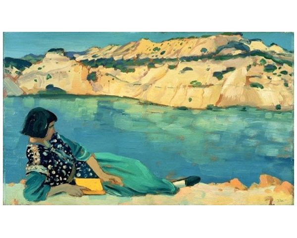 Building a Capsule Wardrobe by Starting with Art: The Blue Pool by Augustus John